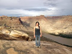 Rock Climbing Photo: At the Spanish Bottom overlook at sunset- a cool h...