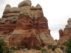 Rock Climbing Photo: Our Dollhouse # 2 campsite, which I felt was the l...