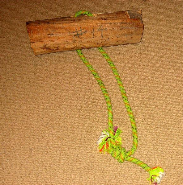 wooden chock