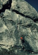 Rock Climbing Photo: Ten year old Emil on the lower portion of Nutcrack...