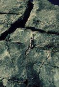 Rock Climbing Photo: Anne Carrier leading Nutcracker.