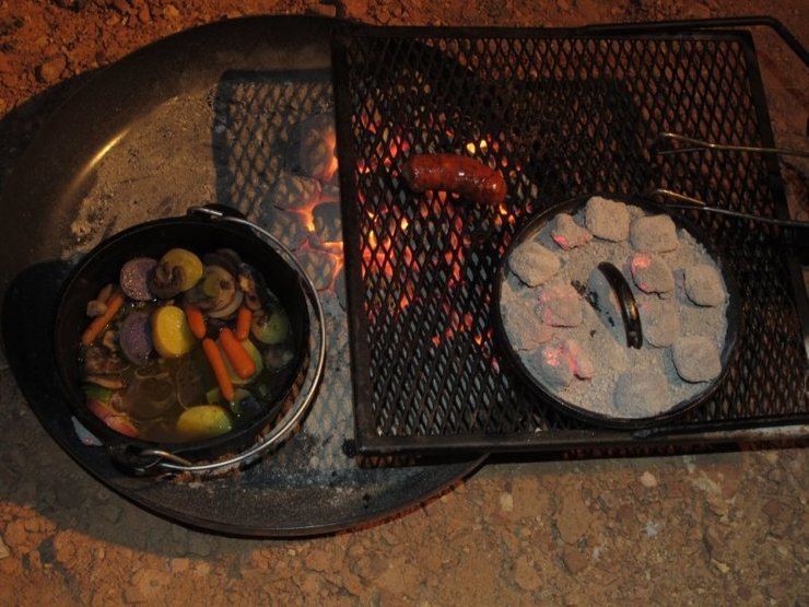 There's no campfires allowed in The Maze- we cooked over coal which we also packed out. It worked out great for my dutch oven cooking. : )<br> <br> April 2011- photo by Jonny