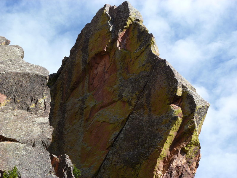 Rock Climbing Photo: A close view of the 2nd pitch crack.