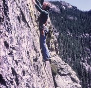Rock Climbing Photo: I'm cleaning the gear as the third man in the part...