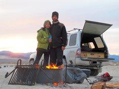 Rock Climbing Photo: Camping at Eureka Sand Dunes after coming down fro...