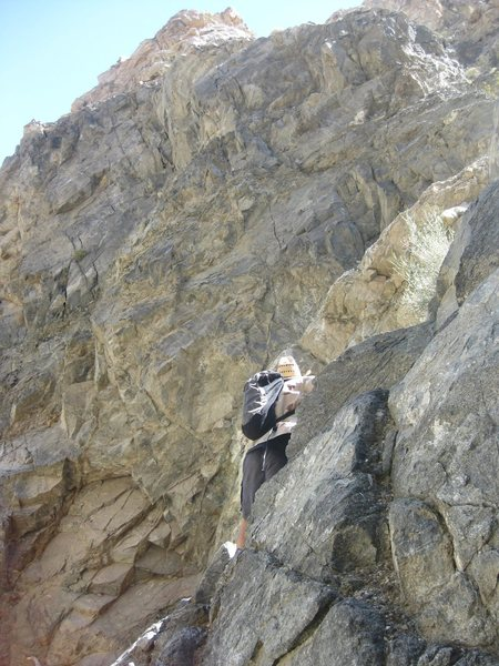 Scrambling up Hunter Canyon in Saline Valley.<br> <br> April 2011