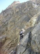 Rock Climbing Photo: Scrambling up Hunter Canyon in Saline Valley.  Apr...