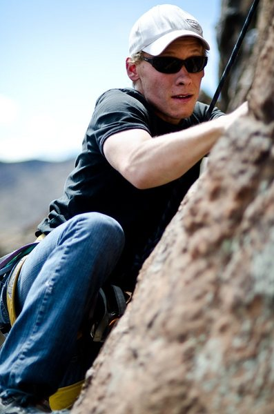 Rock Climbing Photo: Up a move
