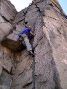 Rock Climbing Photo: A bit of jamming.