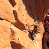 Climber: Matt Bruton.<br> <br> Photo: Dancesatmoonrise.