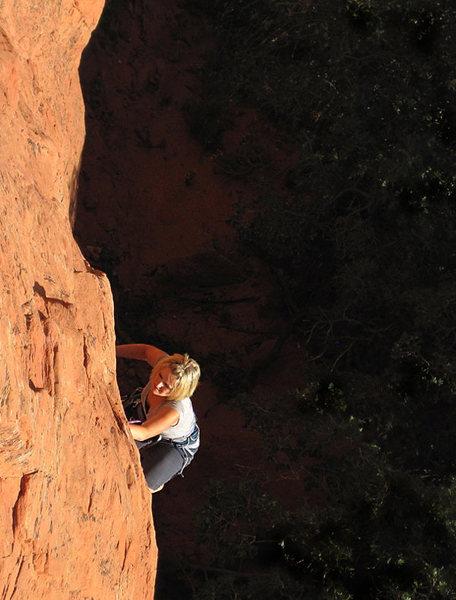Climber: Samantha Revenig.<br> Photo: Dancesatmoonrise.