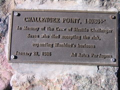 Rock Climbing Photo: Plaque on Challenger Point