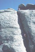 Rock Climbing Photo: My 10 year old son on B-2.