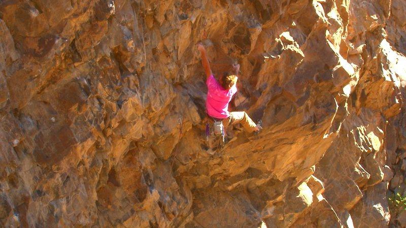 Brendan climbing The ILL