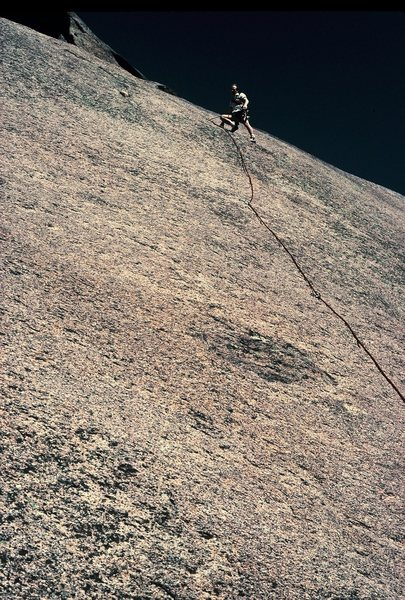 Rock Climbing Photo: Gary at the second belay stance.
