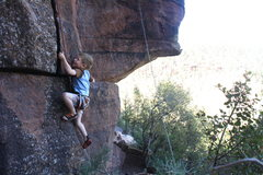 Rock Climbing Photo: Bryton, one of my little guys, looking like he's L...