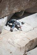 Rock Climbing Photo: start of the crux