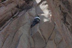 Rock Climbing Photo: moving on up tiny fingers slick rock
