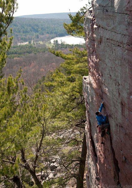 Rock Climbing Photo: Ryan on upper d , photo Luke Mouradian