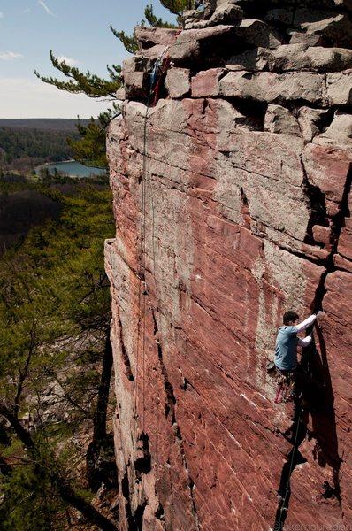 Rock Climbing Photo: Ryan on Birch Tree , photo Luke Mouradian