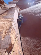 Rock Climbing Photo: BillMac putting hands in a perfect hands, splitter...