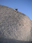 Rock Climbing Photo: I'm on the right-most line (.11-). It starts aroun...