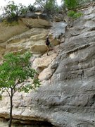 """Rock Climbing Photo: Anonymous climber works through the """"Over&quo..."""