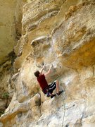 Rock Climbing Photo: Coleman gets prepped for the committing move to th...