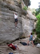 """Rock Climbing Photo: Alec leads the route.  """"Angels"""" and &quo..."""