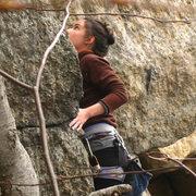 Rock Climbing Photo: scoping out a climb