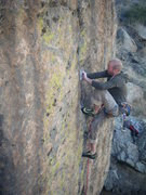 Rock Climbing Photo: The crux for me....