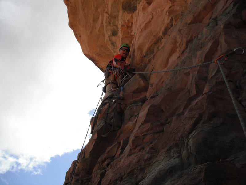 Rock Climbing Photo: Josh Thompson leading the last pitch.