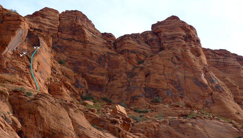 Rock Climbing Photo: Kibosch Buttress (5.6) is on the far left side of ...