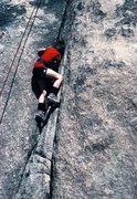 Rock Climbing Photo: My then ten year old son, beginning Toe Jam Expres...