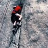 My then ten year old son, beginning Toe Jam Express. A Spring 1985 ascent.