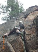 Rock Climbing Photo: Blake Collins in Taylor Canyon on an unknown route...