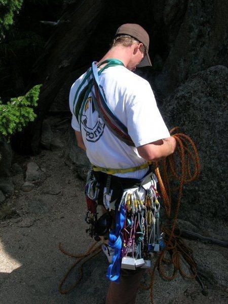 Rock Climbing Photo: Rackin up