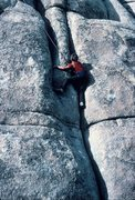 Rock Climbing Photo: Switching crack systems.