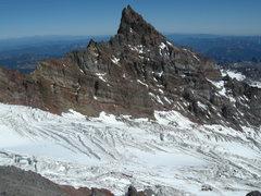 Rock Climbing Photo: Little Tahoma from Ingraham flats on Mt Rainier.