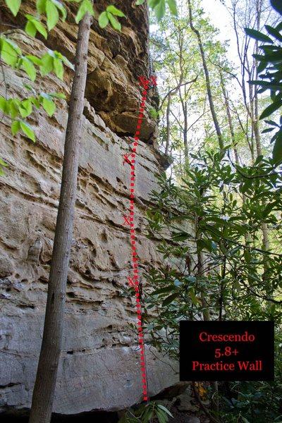 Rock Climbing Photo: Crescendo
