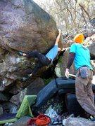 Rock Climbing Photo: Steve cruising.