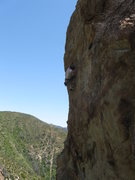 Rock Climbing Photo: Joe Stover leading PMRC