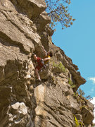 Rock Climbing Photo: Enjoying the nice addition to Upper Fifth Canyon
