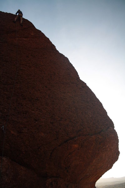 Scott on an early morning start to his 40 routes for 40 years