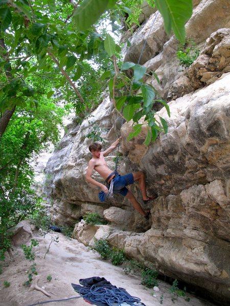 Rock Climbing Photo: TOUGH Boulder problem start...
