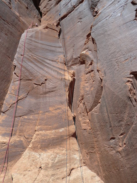 "Rock Climbing Photo: Red rope on left hangs on ""Lieback"", Blu..."