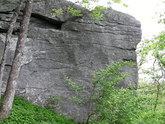 Rock Climbing Photo: Another problem on the Northside Yonah boulders.