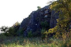 Rock Climbing Photo: Etch-A-Sketch has the white graffiti on it.
