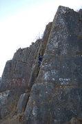 Rock Climbing Photo: Buddy climbing the Arete