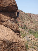 Rock Climbing Photo: Pulling the crux...